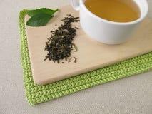 Darjeeling grönt te och stevia arkivbilder