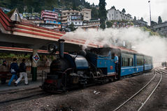 The Darjeeling. Himalayan Railway is a World Heritage Site also known as the Toy Train, is a 2 ft (610 mm) narrow gauge railway that runs between New Jalpaiguri Royalty Free Stock Image
