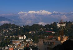 Darjeeling, India, Himalaya. Darjeeling, India, view on the top of the world Stock Photo
