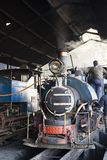Darjeeling, India, March 3 2017: Prepare the steam locomotive for the drive. From Darjeeling to ghoom with the famous toy train Stock Images