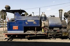 Darjeeling, India, March 3 2017: Prepare the steam locomotive for the drive. From Darjeeling to ghoom with the famous toy train Royalty Free Stock Photos