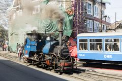 Darjeeling, India, March 3 2017: Shunting the steam locomotive. In the station of the famous toy train Stock Photo