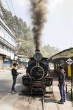 Darjeeling, India, March 3 2017: Shunting the steam locomotive. In the station of the famous toy train Stock Photos