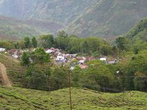 Darjeeling INDIEN, 15th APRIL 2011: Flyg- sikt från cablen Royaltyfri Foto