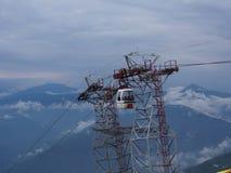 Darjeeling INDIEN, 15th APRIL 2011: Flyg- sikt från cablen Royaltyfria Foton