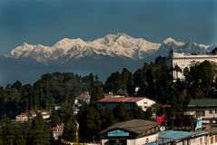 Darjeeling Landscape. A popular tourist destination Darjeeling, it is located in the Mahabharat Range or Lesser Himalaya at an average elevation of 6,710 ft (2 Royalty Free Stock Photo