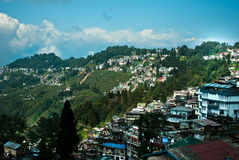 Darjeeling Landscape. A popular tourist destination Darjeeling, it is located in the Mahabharat Range or Lesser Himalaya at an average elevation of 6,710 ft (2 Royalty Free Stock Image