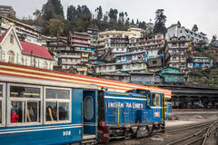 Darjeeling steam train. Famous Darjeeling steam train was Built between 1879 and 1881 and now is World Heritage Site by UNESCO, India Royalty Free Stock Photo