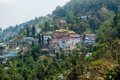 Darjeeling Town from the Top of Mountain, India Royalty Free Stock Photo
