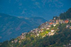 Darjeeling town view from high angle view shot Stock Photos