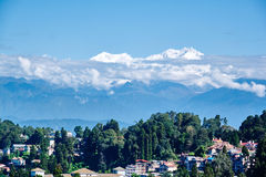 Darjeeling view. With Kinchinjunga Kangchenjunga in India Stock Photography