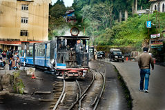 Darjeelingen Toy Train Arkivfoto