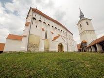 Darjiu fortified church. The Darjiu fortified church is a Unitarian fortified church in Darjiu & x28;Szekelyderzs& x29;, Harghita County, in the Transylvania royalty free stock photo