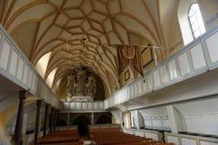 Darjiu stärkte kyrkan, Covasna, Transylvania, Rumänien royaltyfri foto