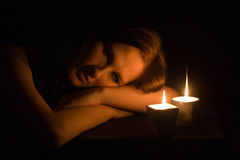 In the dark Stock Photography