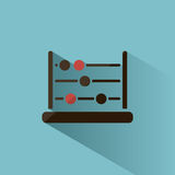 Dark abacus icon Royalty Free Stock Images