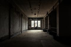 Dark and abandoned place Royalty Free Stock Image
