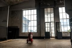 Dark and abandoned place Stock Images