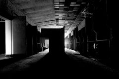 Dark and abandoned place Stock Photos