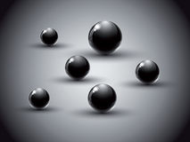 Dark abstract background. Dark abstract background with black glass balls stock illustration