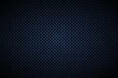 Dark abstract background with blue corners, carbon fiber Stock Images