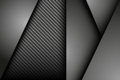 Dark abstract background with carbon and metal sheets. Vector illustration Royalty Free Stock Photography