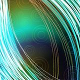 Dark abstract background with circles. Abstract background with rings and bands Vector Illustration