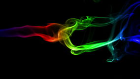 Dark Abstract Background with Colored Real Smoke stock video footage
