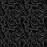Dark abstract background with light circles. Geometric mosaic technology seamless pattern. Black backdrop white. Particles Royalty Free Stock Image