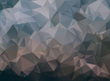 Dark abstract background polygon Royalty Free Stock Photos