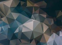 Dark abstract background polygon Stock Photo
