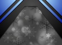 Dark abstract blurred Christmas background Stock Image