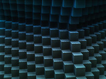 Dark abstract cubes pattern 3d-generated background. Abstract cubes pattern 3d-generated background Royalty Free Stock Photos