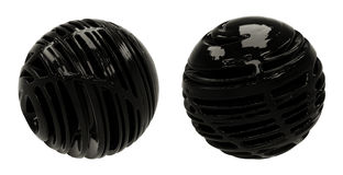 Dark Abstract 3D Spheres Stock Photo