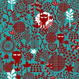 Dark abstract floral seamless pattern. Royalty Free Stock Image