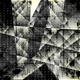 Dark abstract geometric background Stock Photography