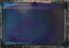 Dark abstract grunge dirty film background. For your next project Stock Image