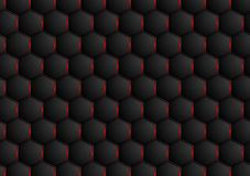 Dark abstract hexagonal texture design Stock Photography