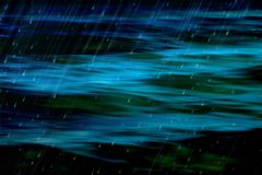Dark abstract ocean and rain Stock Photo