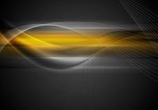 Dark abstract orange wavy background Stock Photography