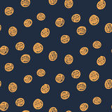 Dark abstract seamless circle pattern. Dark abstract seamless pattern with orange circles Royalty Free Stock Photography