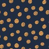 Dark abstract seamless circle pattern Royalty Free Stock Photography