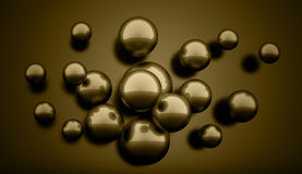 Dark abstract spheres concept Royalty Free Stock Image
