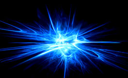 Dark abstraction. Light painted blue rays background Royalty Free Stock Photo