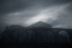 Dark ages abbey Stock Photography