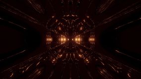 Dark alien style sci-fi space tunnel corridor 3d rendering wallpaper motion background vj loop. Dark alien style sci-fi space tunnel corridor 3d rendering stock video