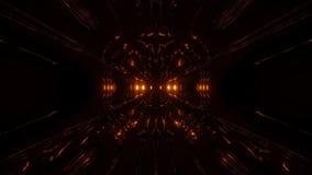 Dark alien style sci-fi space tunnel corridor 3d rendering wallpaper motion background vj loop. Dark alien style sci-fi space tunnel corridor 3d rendering stock video footage