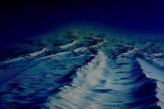 Dark alien world background. Dark imaginary alien world background stock photo