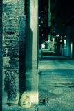 Dark Alley Corner Royalty Free Stock Images