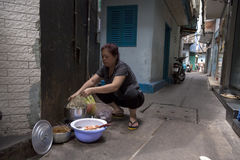 Narrow alley in Ho Chi Minh city Stock Photography